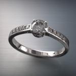 Fehérarany-Gyémántos gyűrű18