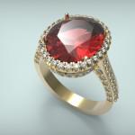 Arany-Színes drágakő gyűrű10