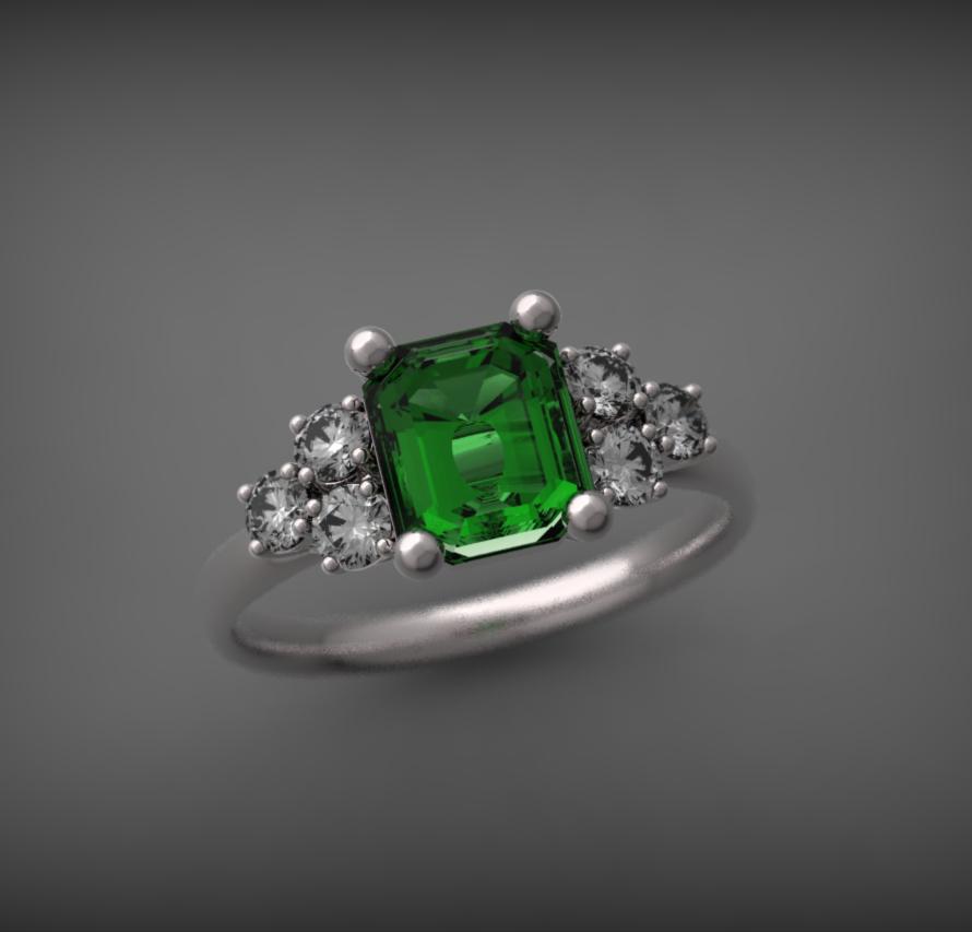 Fehérarany-drágakő gyűrű6