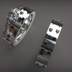 Fehérarany-Gyémánt gyűrű7