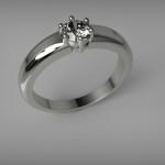 Fehérarany-Gyémánt gyűrű8
