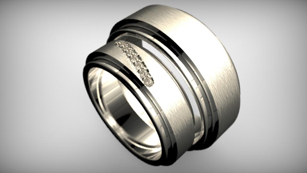 Fehérarany-Gyémánt gyűrű9