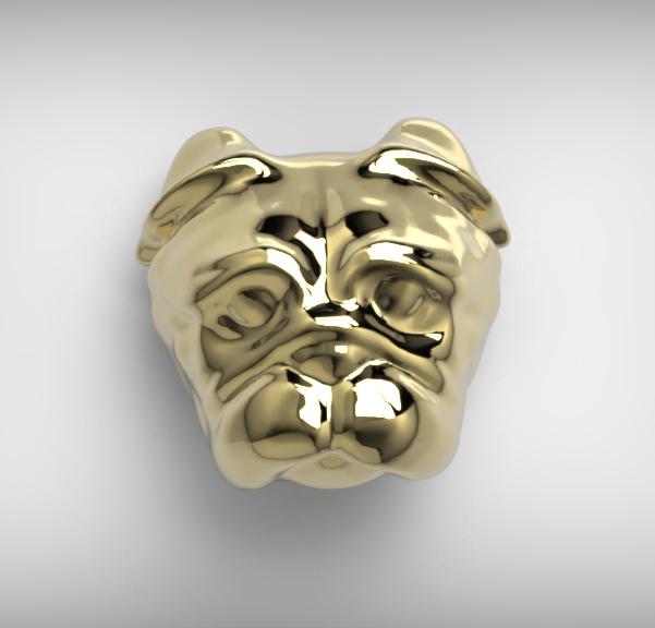 Arany mopsz fülbevaló2