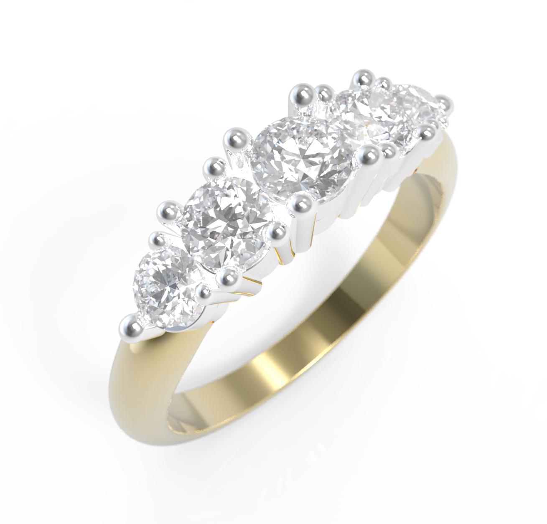 Arany fehérarany gyémánt gyűrű01