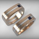Arany fehérarany-gyűrű01