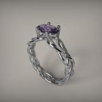 Fehérarany drágaköves gyűrű01