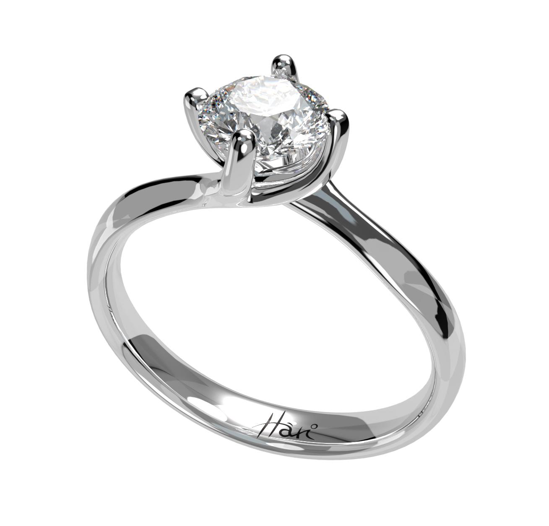 Fehérarany gyémánt gyűrű20