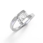Fehérarany gyémánt gyűrű 22