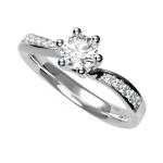 Fehérarany gyémántos gyűrű24