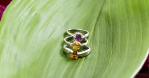 Szolitergyűrűk zafírralésgyémántokkal